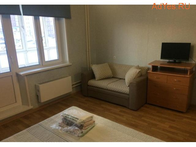Посуточно просторная уютная 1-к квартира, 42 м2, 3/10 эт.
