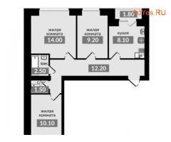 3-к квартира, 59 м², 3/4 эт.
