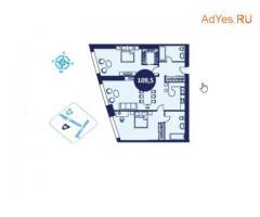 Продаётся 2-к квартира, 109.6 м², 18/58 эт.