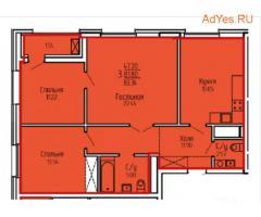 Продается просторная 3-к квартира, 83.3 м², 10/19 эт.