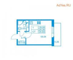 Продаётся студия, 25.8 м², 2/10 эт.