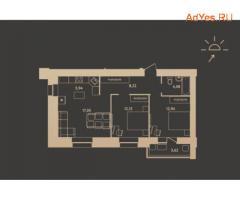3-к квартира, 62.4 м², 12/16 эт.