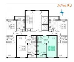 1-к квартира, 39.1 м², 12/17 эт.
