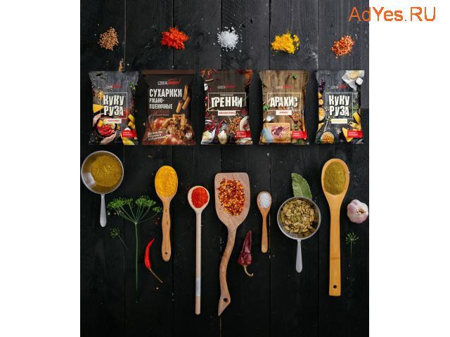 Сухарики, гренки, орешки оптом и в розницу от ТМ «СтатусГолоден»