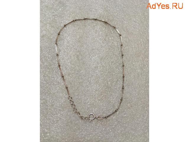 Серебряный 925 браслет, цепочка на ногу